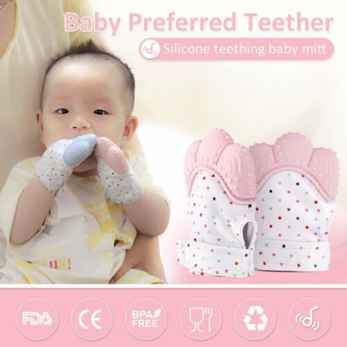 2018 Newborn Baby Gloves Silicone Baby Mitt Teething Mitten Glove Candy Wrapper