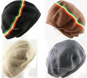 7e8fbd440dca5 1 Piece 100% Cotton Rasta Tam Beret Cap Hat Crown Reggae Marley ...