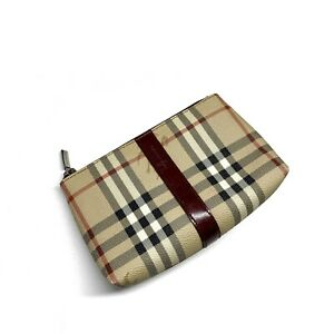 Authentic Vintage Burberry London Nova Check Small Wallet Clutch Handbag T-02-1