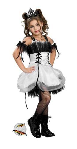 New Gothic Ballerina Child Goth Halloween Dress Costume