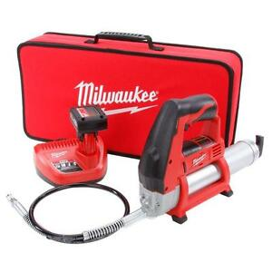 Cordless-Grease-Gun-Kit-Tool-Rechargeable-Lubber-Lithium-Ion-12V-Battery-w-Case