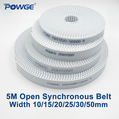 HTD5M Timing Belt 10meter White Polyurethane 15mm Width Open End cut to Length
