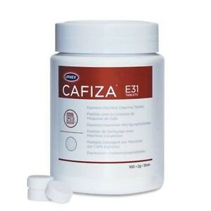 Urnex Cafiza Espresso And Cappuccino Machine Cleaning Tablets, 100 Tablets, New