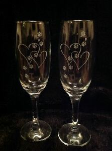 SIBERIAN HUSKY ETCHED WINE GLASS MOTHERS DAY BIRTHDAY GIFT PRESENT VALENTINES