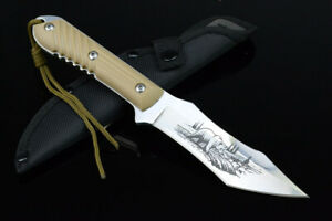 TOP UTILITY SHARP FULL TANG OUTDOOR CAMPING RESCUE HUNTING BOWIE SURVIVAL KNIFE