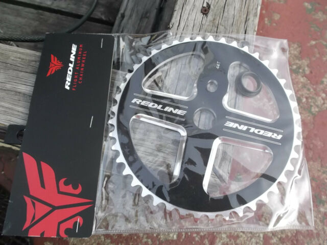 REDLINE FLIGHT 104 mm BCD 4  Bolt Alloy CHAINRING Chainwheel 44 T BLACK