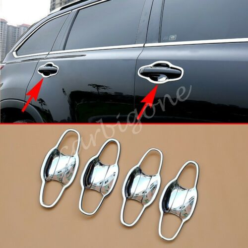 Chrome Handle Bowl Cup Cover Trim For Toyota Highlander 2014-2019 Accessories