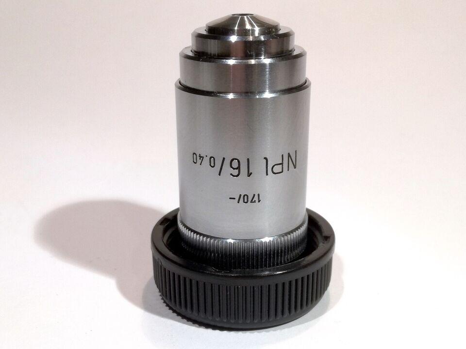 Mikroskop objektiv, Leitz (i dag Leica), NPl 16x