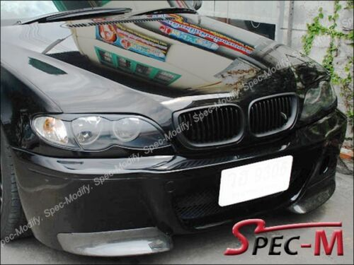 C Type Carbon Fiber Front Splitter Lip For 01-06 BMW E46 3-Series M3 Only 2Dr