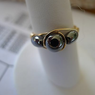 Hematite Gold Filled  Wire Rings Sizes  4-13.5     Choose your size