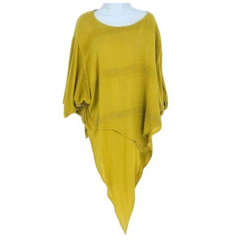 Laise Adzer womens Textured Lagenlook handkerchief