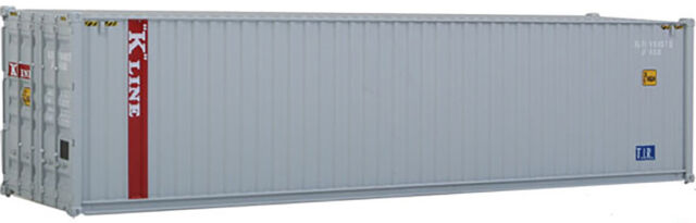 Walthers HO Scale 40' Hi-Cube Corrugated Shipping Container K-Line (Gray, Red)