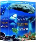 Jean-michel Cousteau's Film Trilogy Dolphins Whales Sharks Ocean Blu Ray 3d