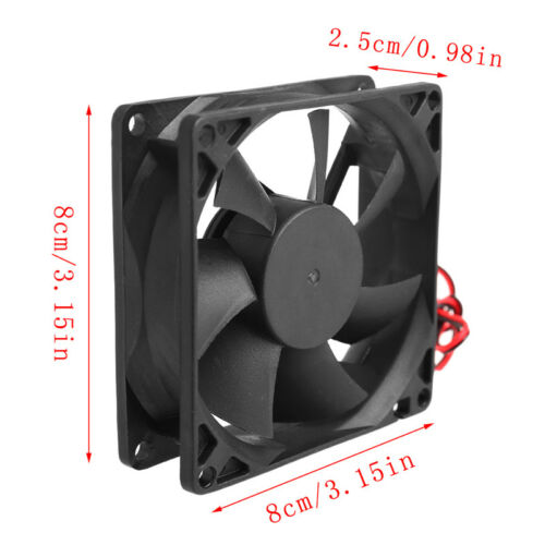 12cm DC 12V High Speed Computer 2Pin PC Case System Hydraulic Cooling Fan