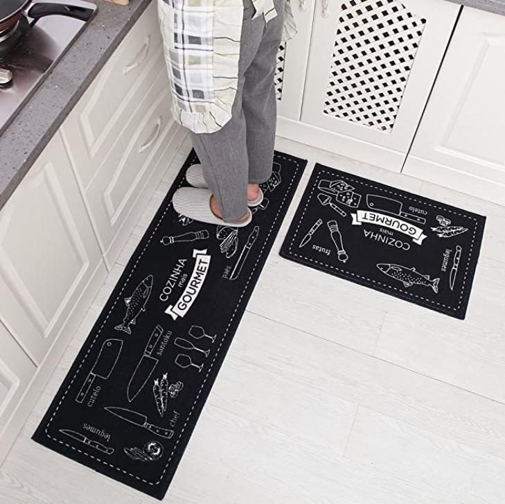Carvapet 2 Piece Kitchen Mat No Rubber Backing Doormat Runner Rug Set Cooking For Sale Online Ebay