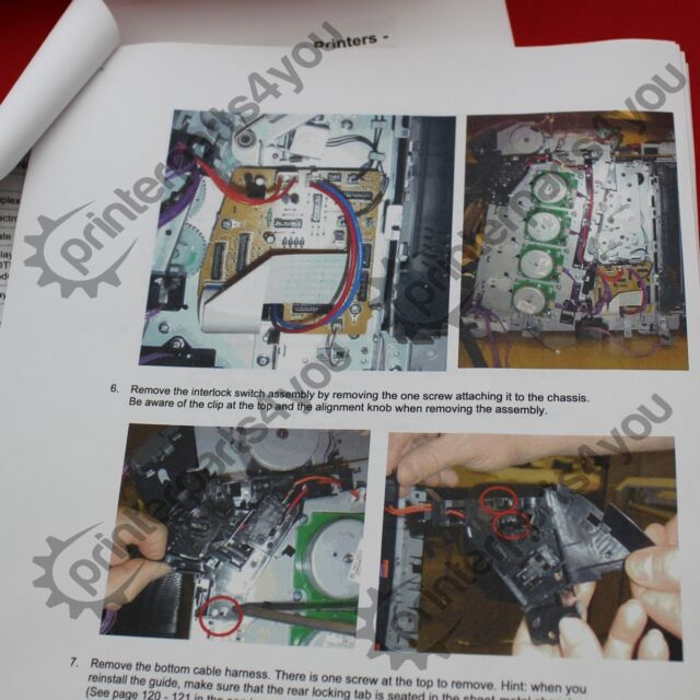 Q5982-67925 Cartridge Lock Kit /& RC1-6643 /& Instructions HP 3600 3800 CP3505
