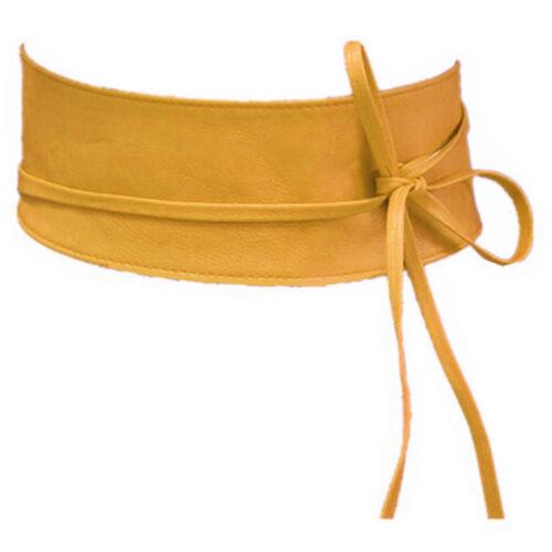 Cintura da donna in pelle Dirty giallo in vita Cintura fasciatoio Cintura Cintura sa-46