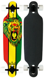 KROWN-ELITE-LONGBOARD-RASTA-8-ply-Maple-Drop-Through-Skateboard