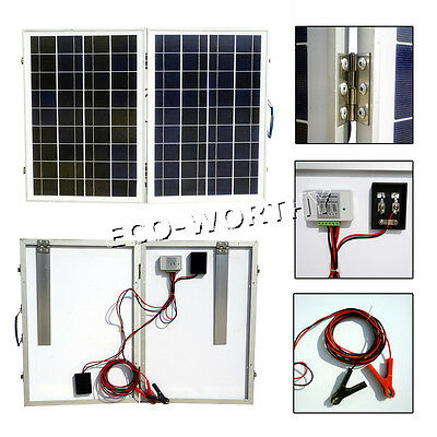 80W Folding Solar Panel Portable Kit for 12V Car Boat Battery Charge Car Camping