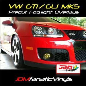 06-09 VW MK5 Yellow Fog light Overlays TINT VINYL GTI R