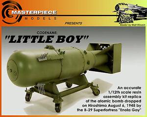 LITTLEBOY ATOMIC BOMB 1/12TH SCALE KIT 751109708051   eBay
