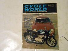 MARCH 1968 CYCLE WORLD MAGAZINE,SUZUKI 250 MX,OSSA TRIALS,MV600 FOUR,SNOWMOBILES