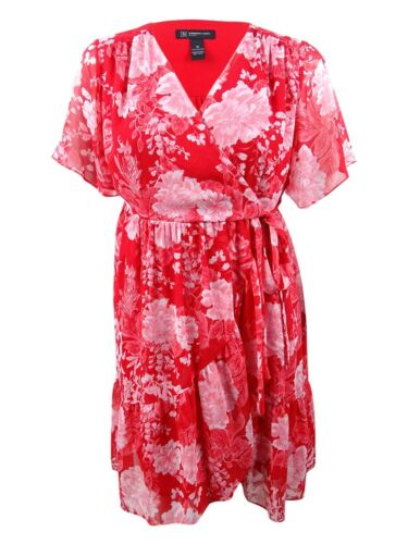 INC International Concepts Women/'s Plus Size Faux-Wrap Kimono Dress