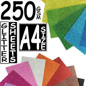50-X-SHINY-GLITTER-A4-SIZE-CARDS-250GSM-THICK-PAPER-SHEET-SELF-ADHESIVE-CARD