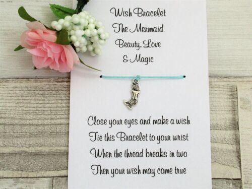 Mermaid Wish Bracelet Friendship Gift Card Spirit Symbolism Totem Mermaid Card