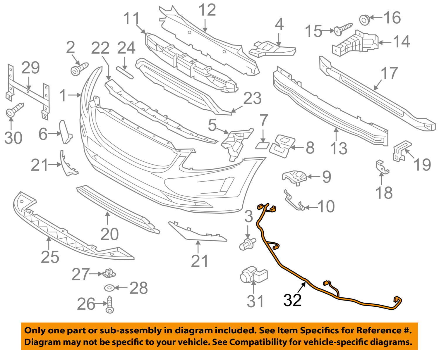 Volvo Oem 10 12 Xc60 Front Bumper Grille Wire Harness 30773680 Ebay 83 Wiring Norton Secured Powered By Verisign