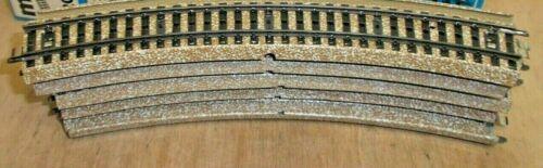 10 X Märklin h0 5200 pezzo di binario curvo M-Binario pulito