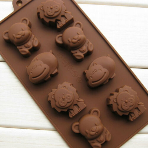 Hippo Lion Bear Animals Silicone Mold Mould Jelly Chocolate Cake Decorating DIY