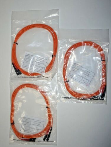 10FT SC to SC Duplex 62.5//125 Multimode Fiber Optic Patch Cable LOT OF THREE
