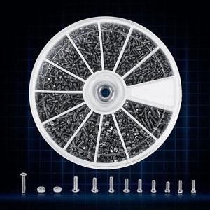 600-Stk-12-Klein-Schrauben-Muttern-Sortiment-Set-M1-m1-2-m1-4-m1-6-praktische