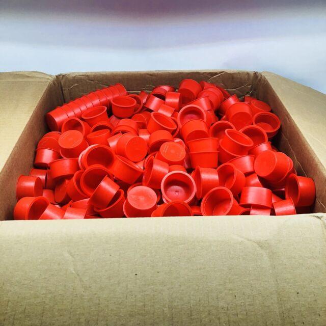 "0.548/""-0.630/"" Red Quantity of 5 Caplugs New Tapered Plastic Cap Plug Size 6X"
