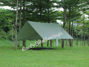 Image is loading Double-Hammock-Tent-C&ing-Backpacking-Rainfly-Tarp-Army- & Double Hammock Tent Camping/Backpacking Rainfly Tarp Army Green ...