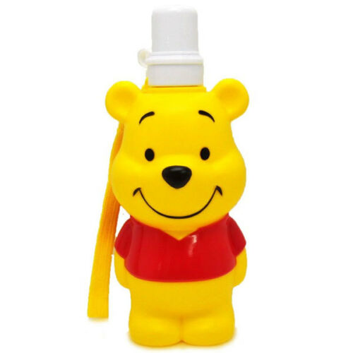 Skater Disney Winnie the Pooh Cute Portable 3D Die Cut Water Bottle with Strap