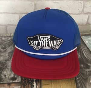 8f8ac0c4 VANS OFF THE WALL MESH TRUCKER CAP / BASEBALL CAP - BRAND NEW - HAT ...