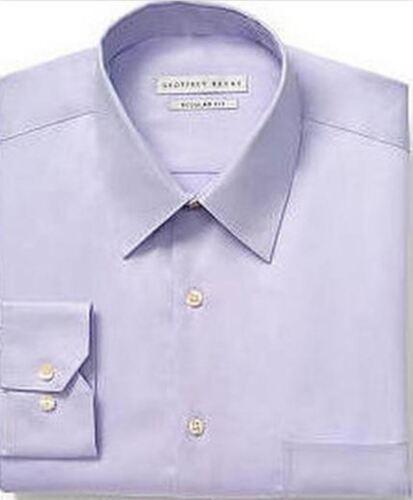 Mens Shirt Geoffrey Beene Regular Fit Cotton Rich Easycare Long Sleeve