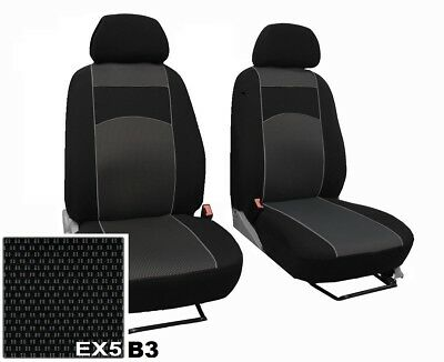 VOLKSWAGEN VW T5 2003-2015 ECO LEATHER /& ALICANTE FRONT UNIVERSAL SEAT COVERS