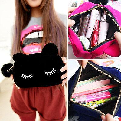 Fantastic Portable Cartoon Cat Storage Case Fabulous Makeup Pouch Cosmetic Bag