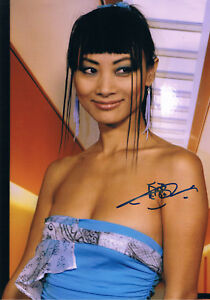 "Bai Ling 1966- genuine autograph photo 8""x12"" signed IN PERSON CHINA-US actress"