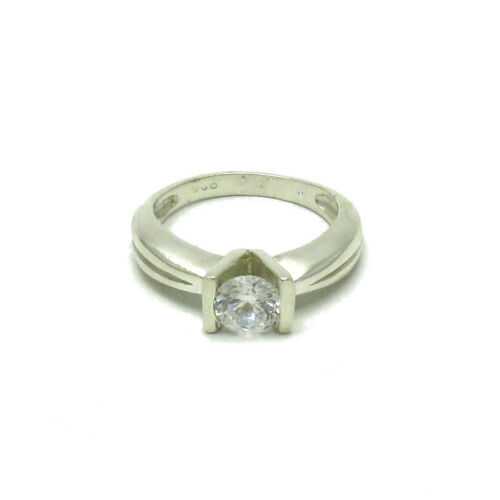 Stylish Plain Sterling Silver Ring Hallmarked Solid 925 6mm CZ Handmade Empress