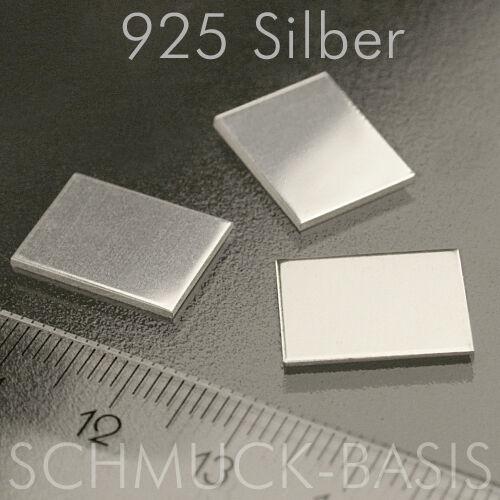 3 Stück Silberblech echt 1,0 mm 925er Silber Sterlingsilber 15 x 11 mm