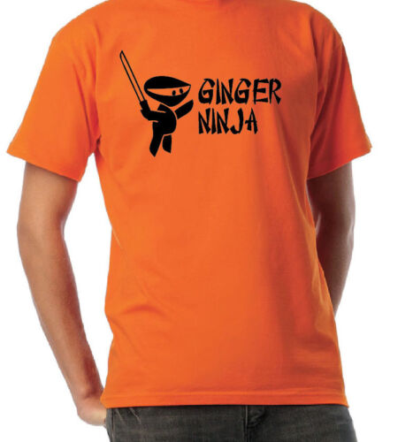 BABIES AND KIDS GINGER NINJA JOKE FUNNY T SHIRT 2 COLOURS ALL SIZES INC