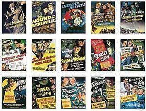 Sherlock Holmes Basil Rathbone Trading Card Set Free Uk Postage Ebay