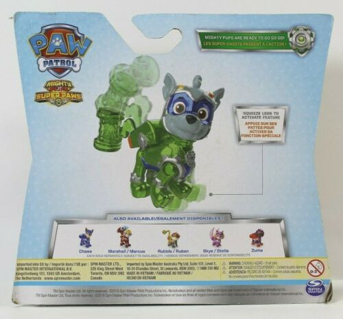 Paw Patrol Mighty Pups Super Paws Marshall Rocky Rubble Skye Chase Figure