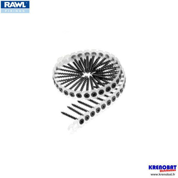 RFSC-3535 : 20 bandes de 50 vis plaque de plâtre plâtre plâtre tête trompette 3,5 x 35 mm RAWL be6657