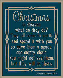 Christmas In Heaven What Do They Do.Details About Primitive Stencil Christmas In Heaven 007 Mil Free Shipping
