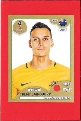 219 AUSTRALIA TRENT SAINSBURY WC RUSSIA Gold 2018 Panini Figurina-Sticker n